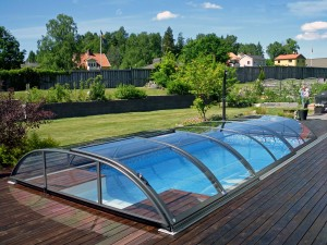 телескопично покритие за басейн
